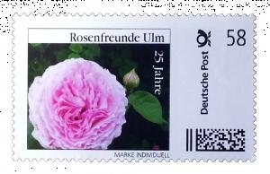 Briefmarke 25 Jahre Rosenfreunde Ulm