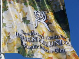 Fahne Rosenfreunde Ulm Goldspatz